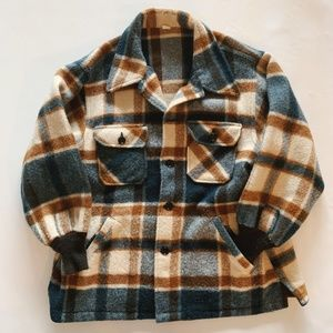 Vintage Thick Oversized Plaid Flannel Jacket